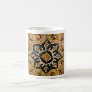 Ottoman Turkish vintage ceramic tile yellow star Coffee Mug
