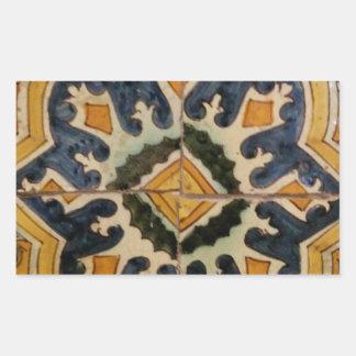 Ottoman Turkish vintage ceramic tile yellow star Sticker