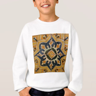Ottoman Turkish vintage ceramic tile yellow star Sweatshirt