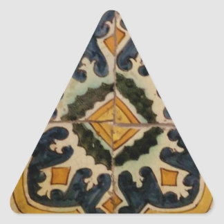 Ottoman Turkish vintage ceramic tile yellow star Triangle Sticker