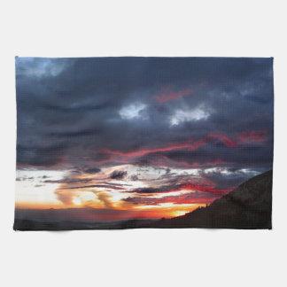 Ottoway Lake Sunset - Yosemite - Sierra Nevada Towel