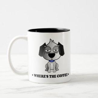 """""""Où est la tasse noire de ton du chien deux de"""