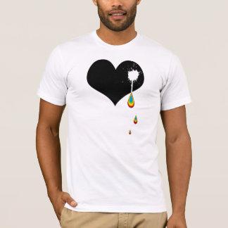 ouch. rainbow heart. T-Shirt