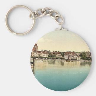Ouchy, Hotel de Chateaux, Geneva Lake, Switzerland Keychain
