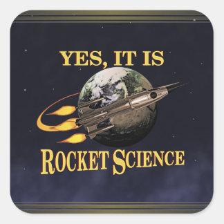 Oui, c'est autocollant d'études spatiales