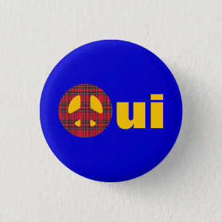 Oui No Trident Scottish Independence Badge 1 Inch Round Button