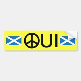 Oui No Trident Scottish Independence Sticker