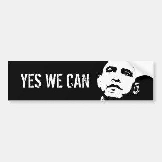 Oui nous pouvons/Obama 2008, OUI NOUS POUVONS Autocollant De Voiture