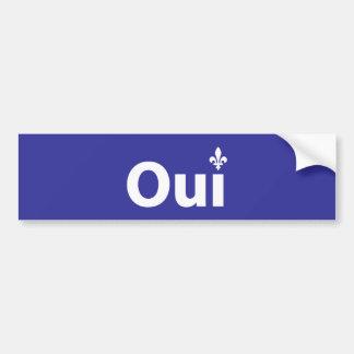 OUI Québec Bumper Sticker
