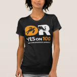 OUI sur 100 ! T-shirt - orange et blanc du QG des