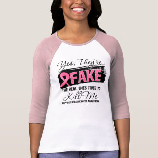 Oui Theyre le faux vrai cancer du sein (grunge) T-shirt