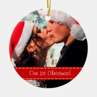 Our 1st Christmas - Add your photo Ceramic Ornament