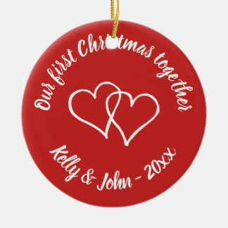 Our 1st Christmas together couple tree ornament