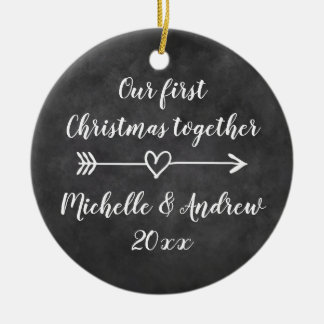 Our 1st Christmas together custom tree ornament