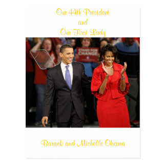 Our 44th President and Our First Lady Postcard