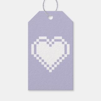 Our 8-Bit Hearts in Lavender Gift Tag Pack Of Gift Tags