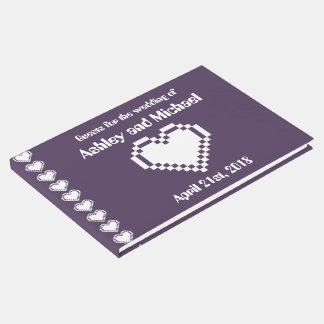 Our 8-Bit Hearts in Purple Guest Book