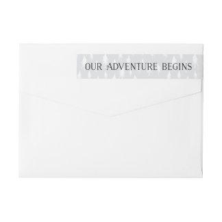 Our Adventure Begin | Save the Date Return Address Wrap Around Label