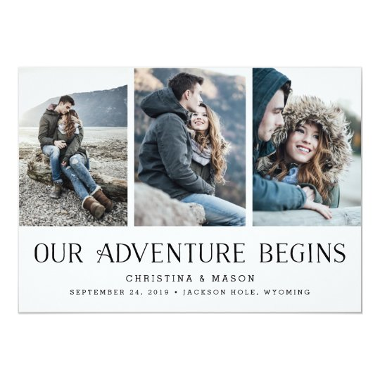 Our Adventure Begins | Multi Photo Save the Date Card