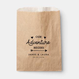 Our adventure begins wedding favor bag