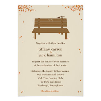 Our Bench Fall Wedding Invitation