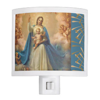 Our Blessed Mother with Jesus & Angels Night Lites
