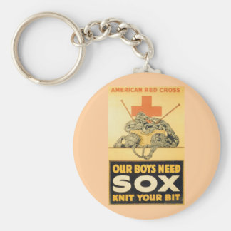 Our Boys Need Sox Basic Round Button Keychain