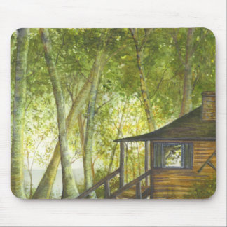 """Our Cabin"" by Brigid O'Neill Hovey Mouse Pad"