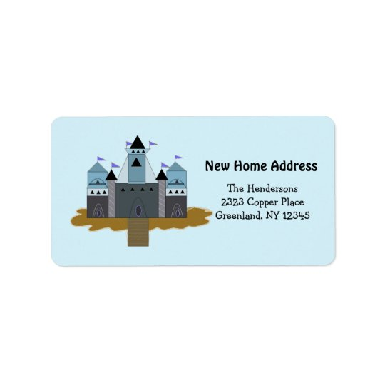 Our Castle New Home Address Label