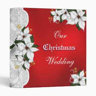 Our Christmas Wedding notebook binder