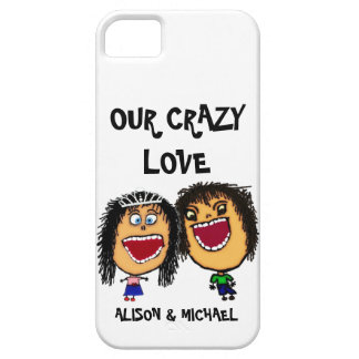Our Crazy Love Cartoon Couple iPhone 5 Cases