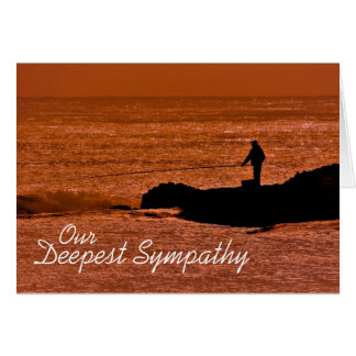 Our Deepest Sympathy Card for Fisherman