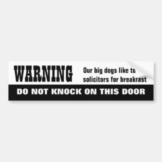Our Dogs EAT Solicitors Bumper Sticker