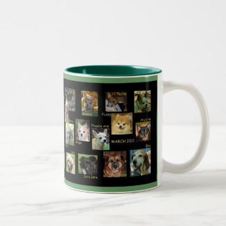 OUR DOGS MARCH 2011 Two-Tone COFFEE MUG