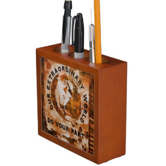 Our Extraordinary World - Do Your Part Desk Organizer