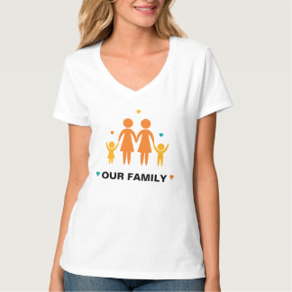 Our Family Lesbian T-Shirt (Boy and Girl)