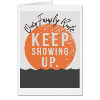 "Our Family Rule 5""x7"" Card"