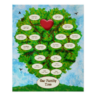 Our Family Tree Four Children Poster