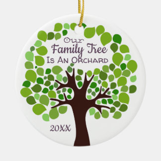 Our Family Tree is an Orchard Adoption/Foster Care Ceramic Ornament