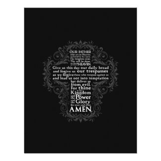 """""""Our Father"""" """"Lord's Prayer"""" """"Christian Gift Jesus Personalized Letterhead"""
