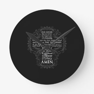 """Our Father"" ""Lord's Prayer"" ""Christian Gift Jesus Round Clock"