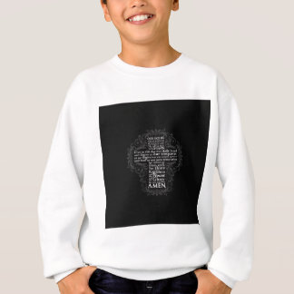 """Our Father"" ""Lord's Prayer"" ""Christian Gift Jesus Sweatshirt"