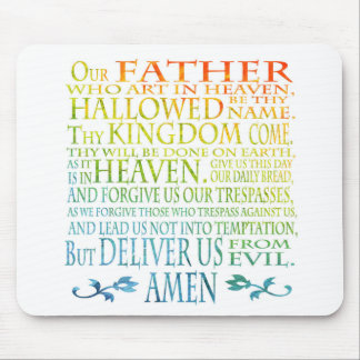 'Our Father' Prayer Mouse Pad