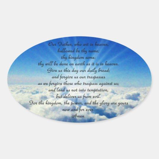 Our Father Prayer Sticker