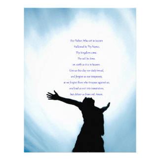 Our father prayer the classical healing love letterhead design