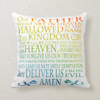 'Our Father' Prayer Throw Pillow