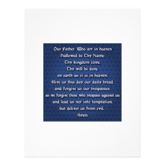 Our Father The Lord's Prayer Customized Letterhead