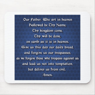 Our Father The Lord's Prayer Mouse Pad