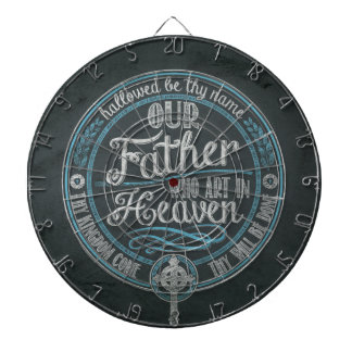 """""""Our Father Who Art In Heaven"""" Christian Gift God Dartboard"""