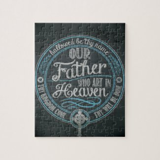 """Our Father Who Art In Heaven"" Christian Gift God Jigsaw Puzzle"